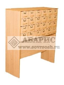 Шкаф библиотечный картотечный 24 ящика