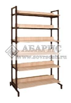 Шкаф-стеллаж двухсторонний каркасный
