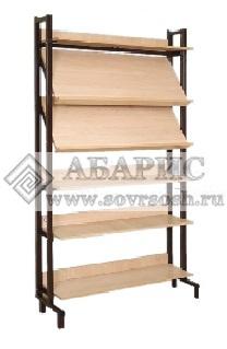 Шкаф-стеллаж комбинированный (2 наклонные и 4 горизонтальные полки)
