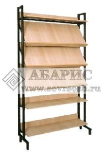 Шкаф-стеллаж комбинированный (3 наклонные и 3 горизонтальные полки)