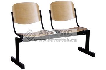 Блок стульев 2-х местный с неоткидными сиденьями (фанера)