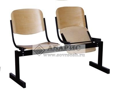 Блок стульев 2-х местный с откидными сиденьями (фанера)