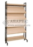 Шкаф-стеллаж комбинированный (4 наклонные и 2 горизонтальные полки)