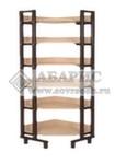 Шкаф-стеллаж угловой каркасный