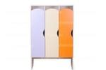Шкаф детский для одежды 3-х секционный КРАСКИ