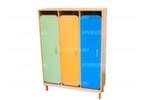 Шкаф детский для одежды 3-х местный с решеткой