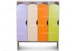 Шкаф детский для одежды 4-х секционный КРАСКИ