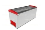 Морозильный ларь GELLAR FG 750 E / 620л, Гнутое  стекло, 1610х650х850мм, 8 корзин, колеса, замок