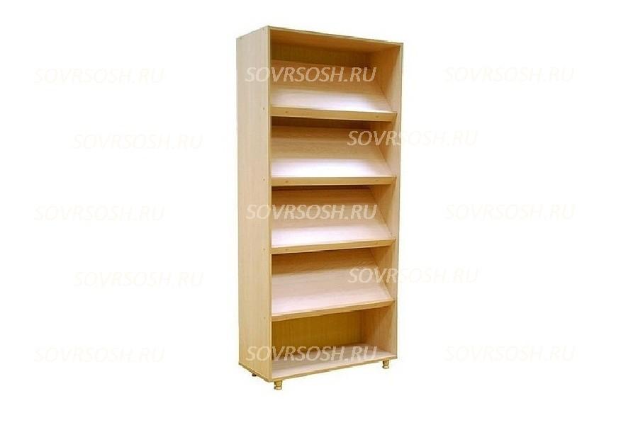 Шкаф стеллаж (наклонные полки) (849х360х1835 мм)