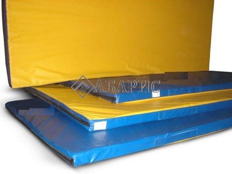 Мат гимнастический 2,0х1,0х0,1м цветной(искусственная кожа)