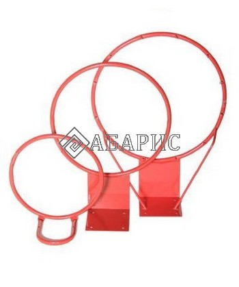 Кольцо баскетбольное №7 (труба) облегченное б/сетки диам.450мм
