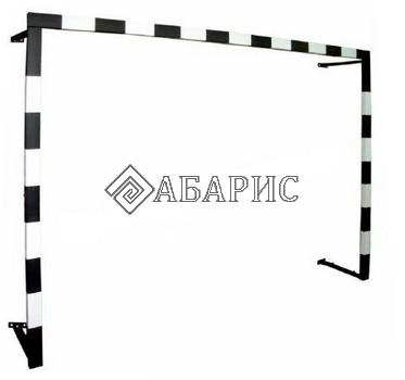 Ворота для гандбола и минифутбола трансформируемые (3,0х2,0х0,5м) без сетки на колесиках