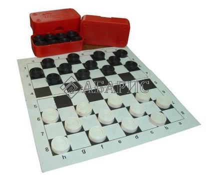 Картонное поле для шашек