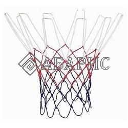 Сетка баскетбольная (шнуровая) нить 4,5 мм цвет триколор