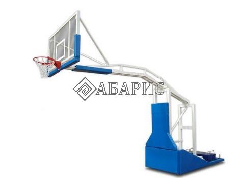 Стойка баскетбольная мобильная складная вынос 3,25м