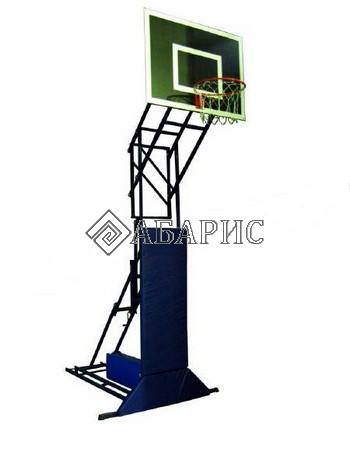 Стойка стритбольная -минибаскетбольная складная, переносная, регулир.высоты 2,75,3,05м ( щит ламинир