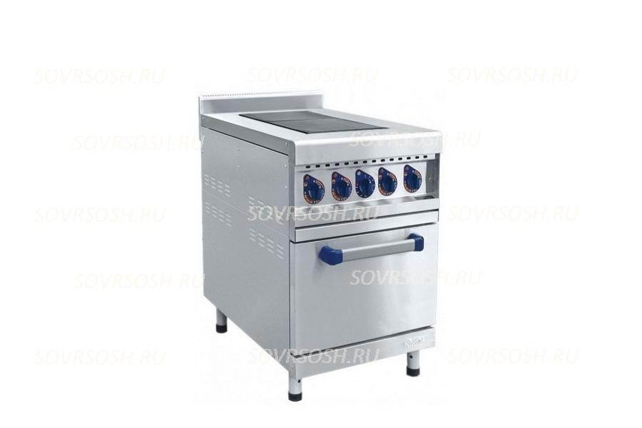 Плита электрическая 2-конфорочная с жарочным шкафом ЭП-2ЖШ / 8,8 кВт, 220/380В /лицевая нержавейка