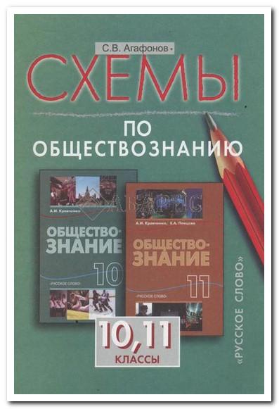 Агафононов Обществознание 10-11 Класс Схемы УМК Кравченко