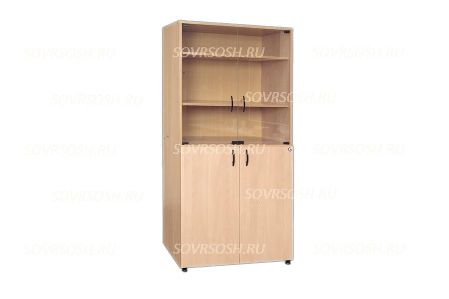 Шкаф секционный со стеклянными дверями (844х440х2100 мм)
