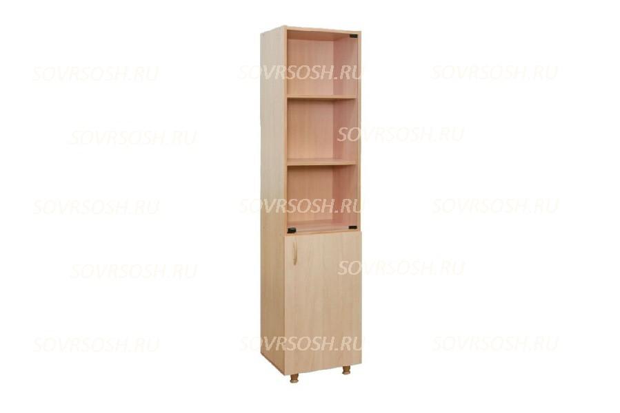 Шкаф узкий со стеклом (425х376х1835 мм)