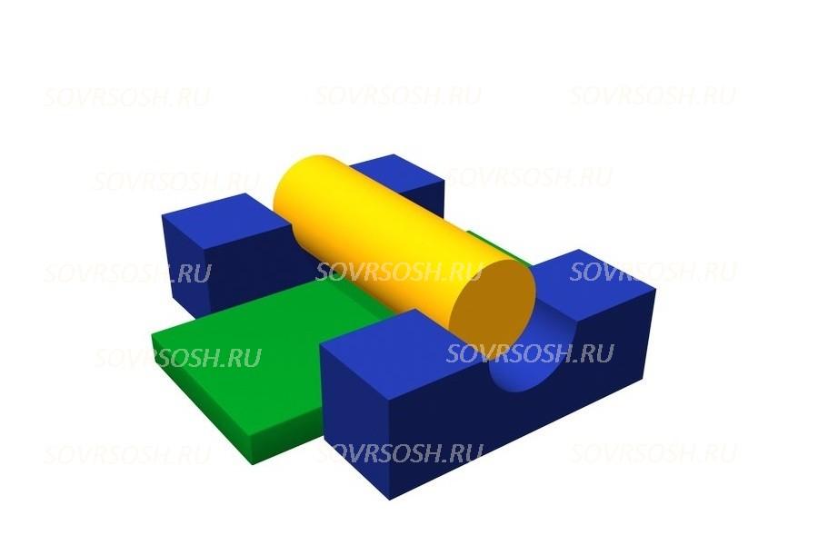 Мягкий спортивный модульБарьер (4 элемента)