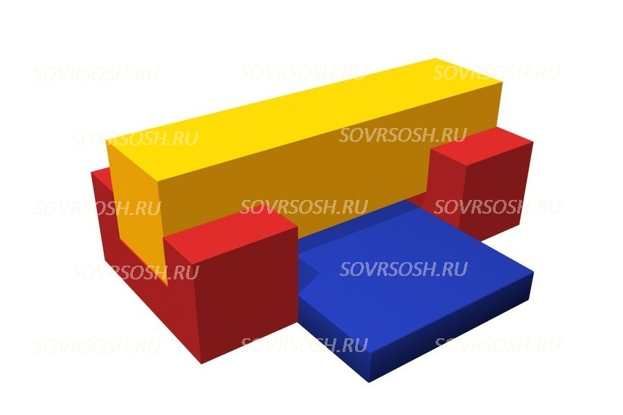 Мягкий спортивный модуль Бревно (4 элемента)