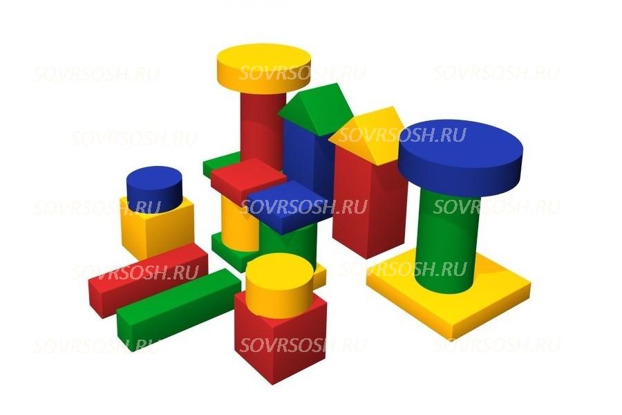 Конструктор из мягких модулей Дворик (22 элемента)