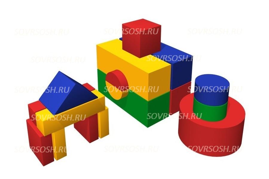 Конструктор из мягких модулей Домик (17 элементов)