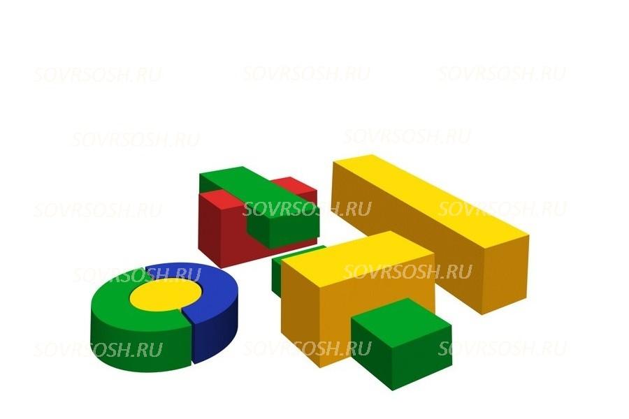 Конструктор из мягких модулей Карапузы (8 элементов)