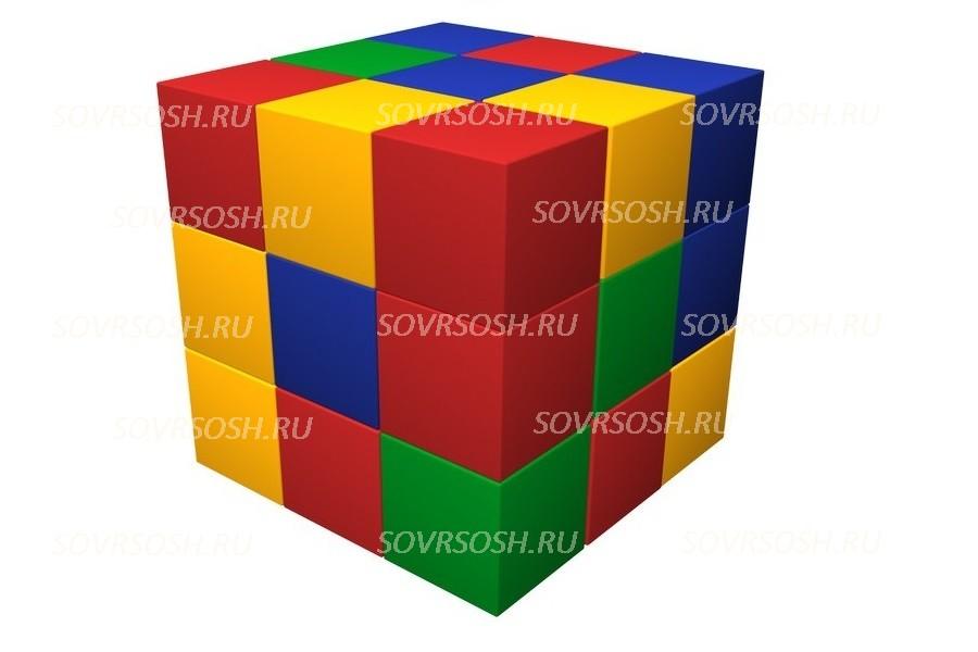 Конструктор из мягких модулей Кубик-рубик (27 элементов)