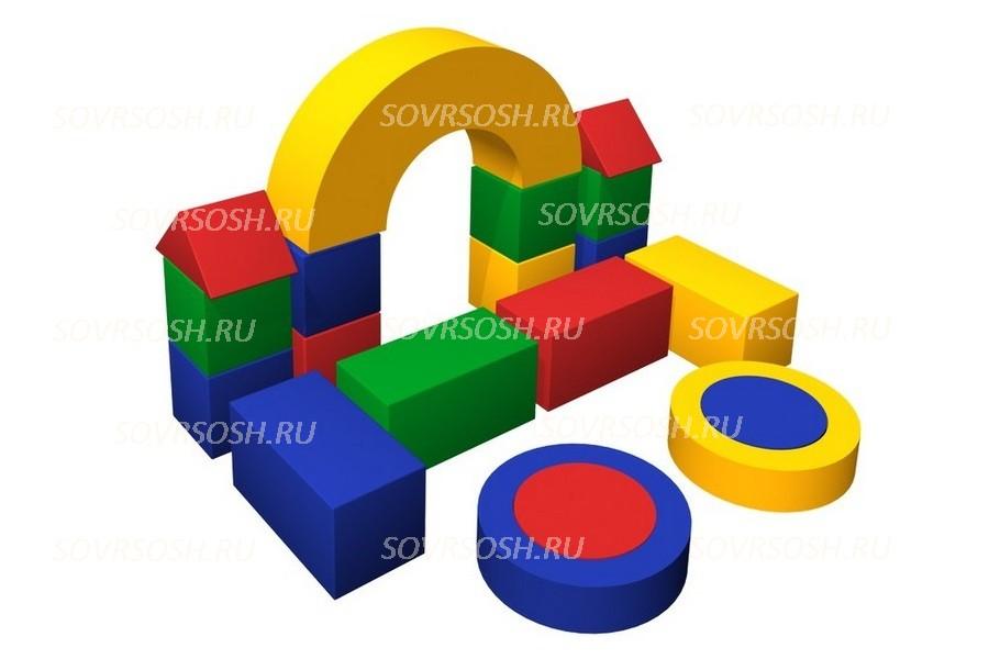 Конструктор из мягких модулей Магазинчик (19 элементов)