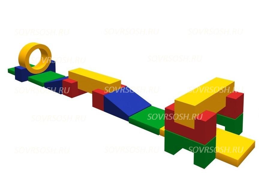 Мягкий спортивный модуль Взлетная полоса (15 элементов)
