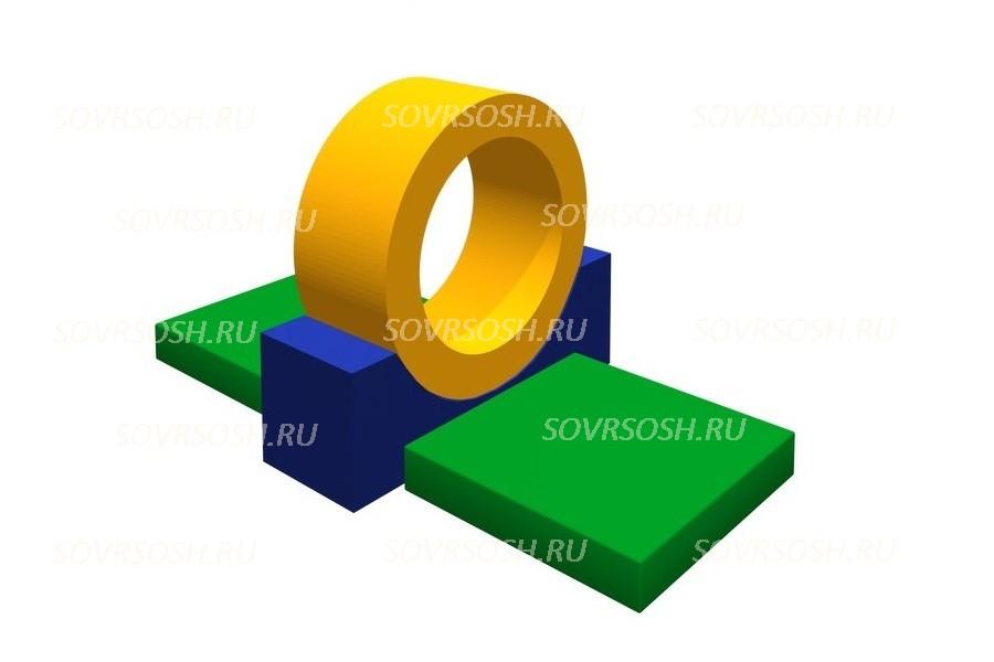 Мягкий спортивный модуль Кольцо (4 элемента)
