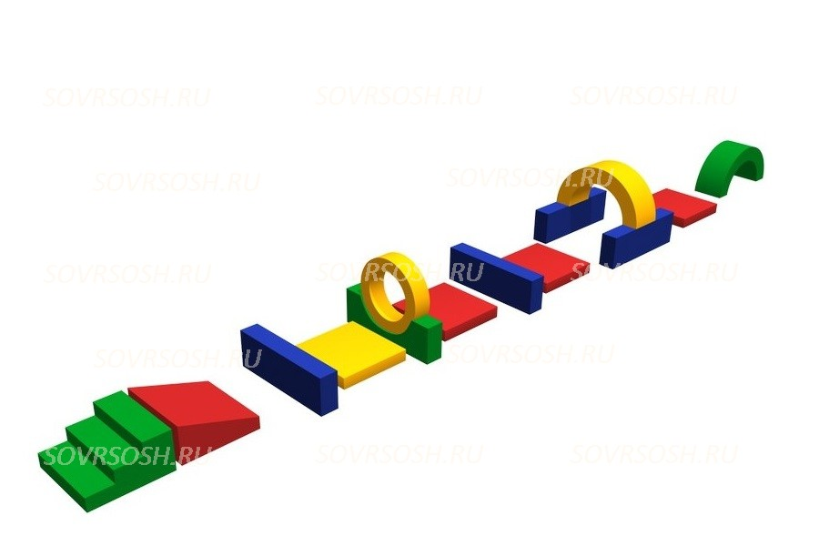 Мягкий спортивный модуль Ленточка (12 элементов)