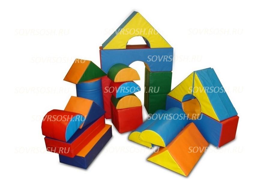 Конструктор из мягких модулей Городок (19 элементов)