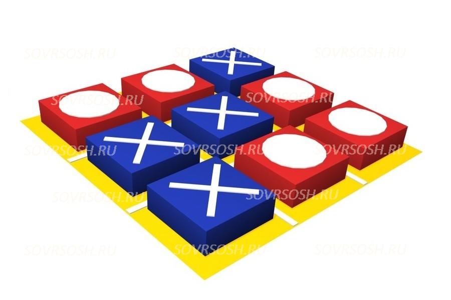 Дидактический мягкий модуль Крестики-нолики (9 элементов)