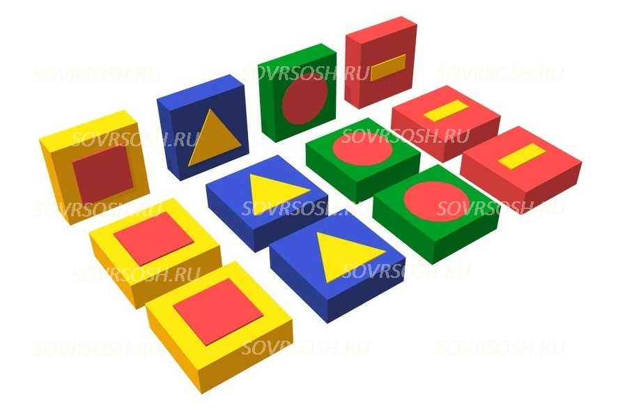 Дидактический мягкий модуль Обучающие фигуры (12 элементов)