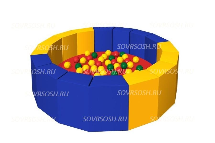 Мягкий игровой сухой бассейн из винилискожи 16 граней (300 шариков)