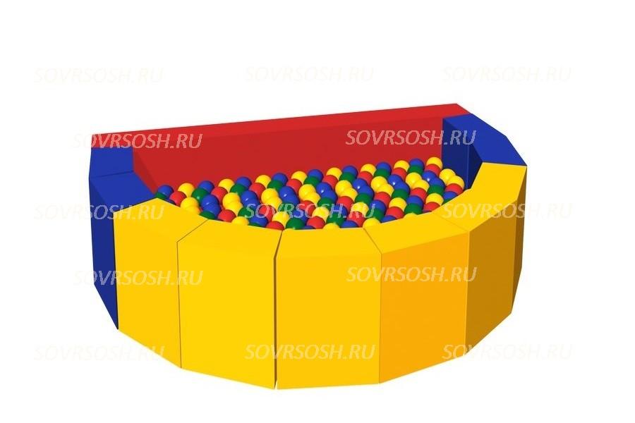 Мягкий игровой сухой бассейн из винилискожи Долька (300 шариков)