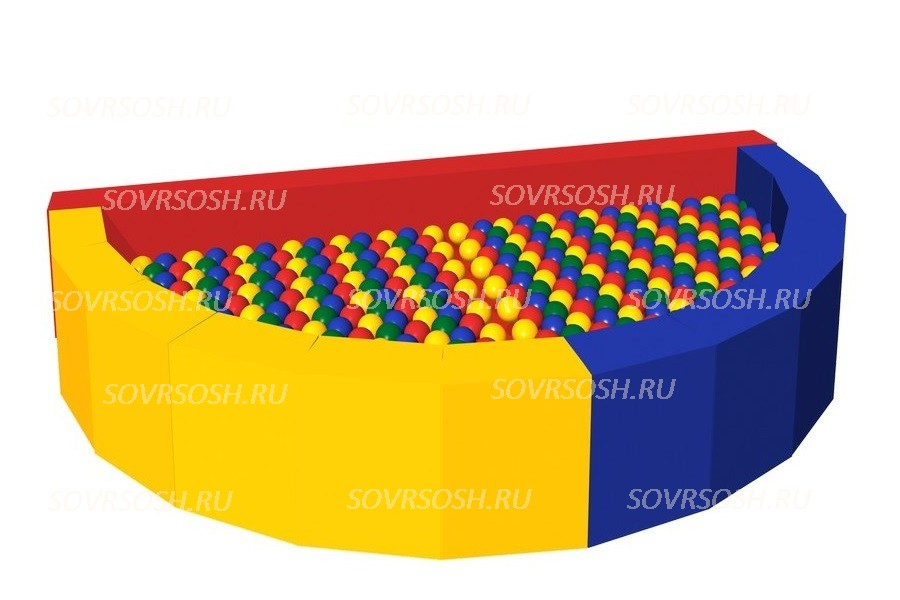 Мягкий игровой сухой бассейн из винилискожи Ломтик (300 шариков)