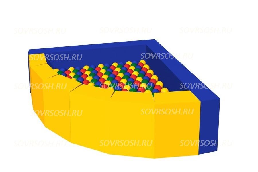 Мягкий игровой сухой бассейн из винилискожи Фасолька (300 шариков)