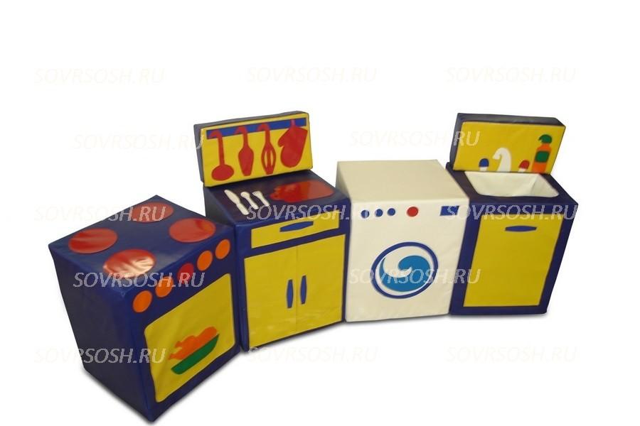 Мебель детская игровая мягкая КУХНЯ набор