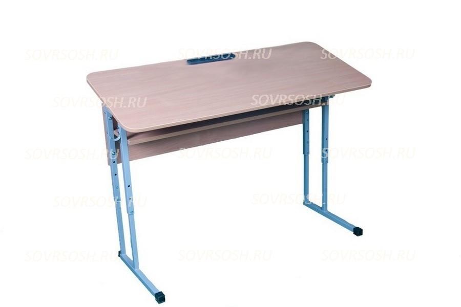 Стол ученический двухместный регулируемый по высоте и углу наклона 0-16 градусов