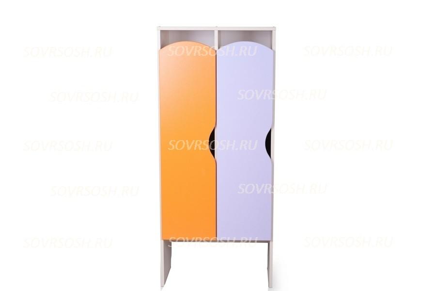 Шкаф детский для одежды 2-х секционный КРАСКИ