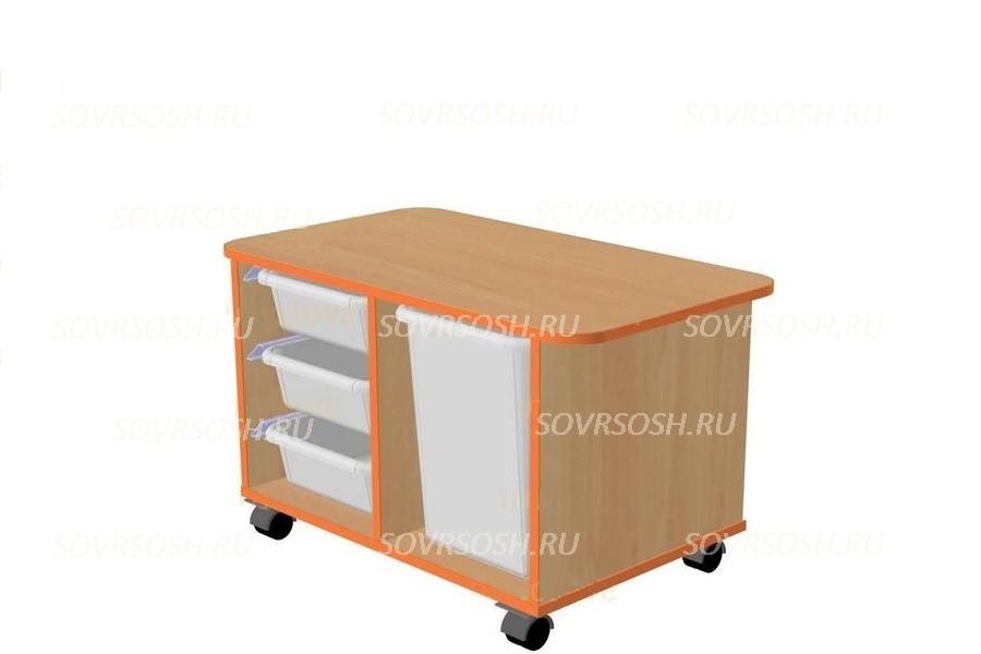 Модуль дидактической мебели САМОДЕЛКИН (тумба с лотками мобильная)