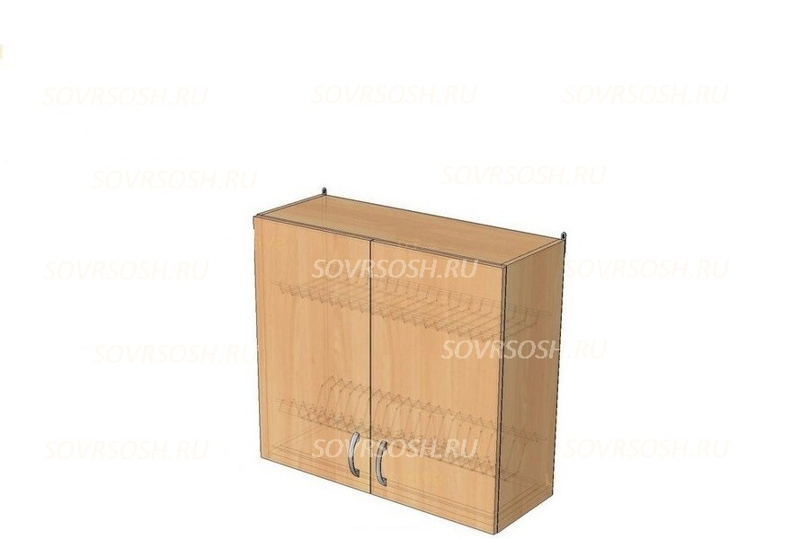 Модуль КГ БЕЛАВА (шкаф навесной с сушилкой, фасады МДФ)