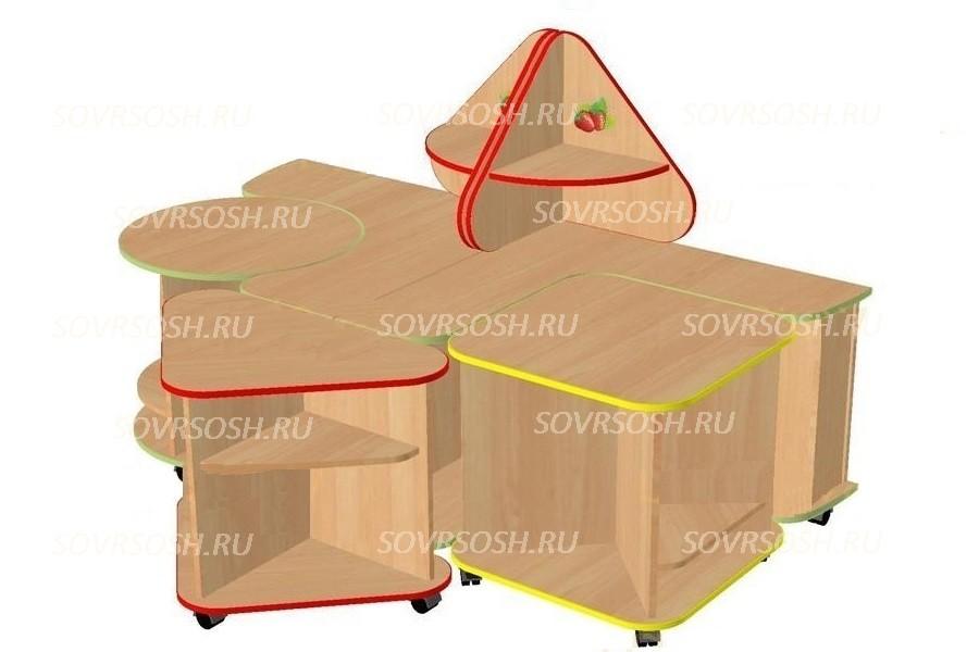 Дидактический набор мебели ЗЕМЛЯНИЧКА модульный