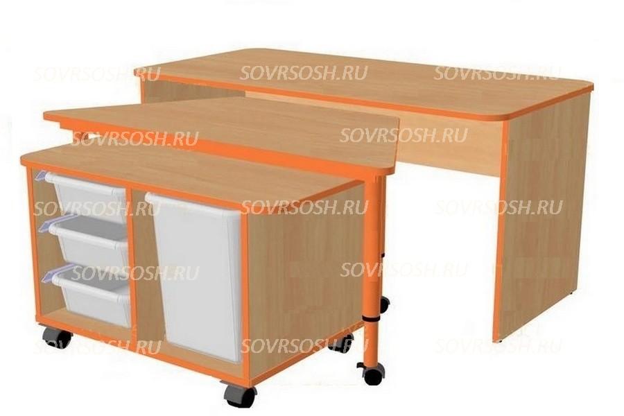 Дидактический набор мебели САМОДЕЛКИН (стол-трапеция)