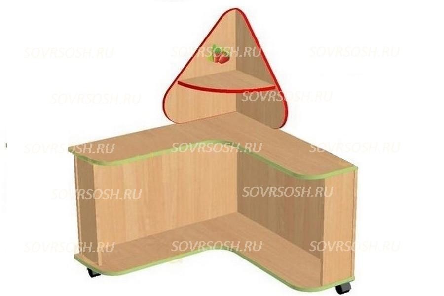 Модуль дидактической мебели ЗЕМЛЯНИЧКА (стол с квадратным, треугольным пазом)