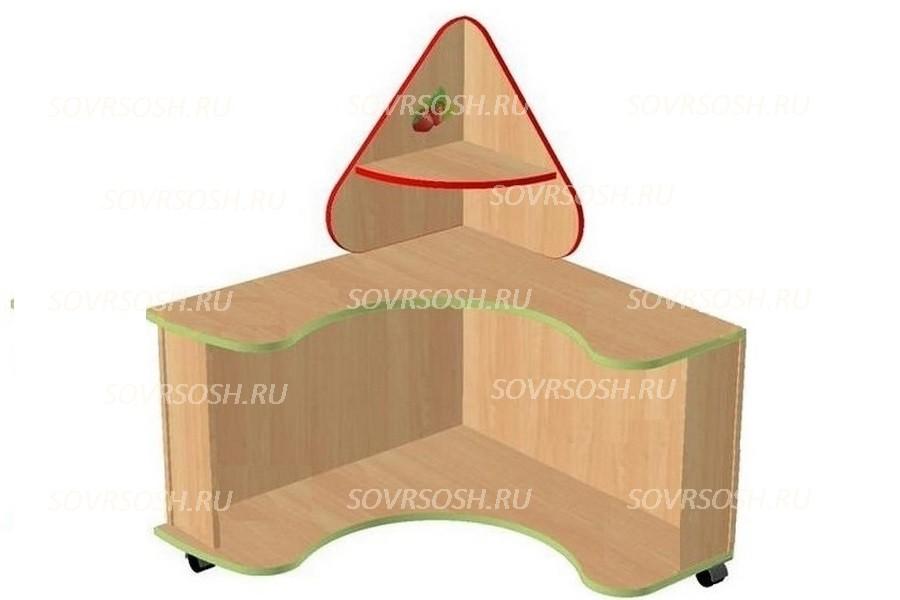 Модуль дидактической мебели ЗЕМЛЯНИЧКА  (стол с круглым пазом)